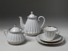 """Сервиз чайный, 6/20, форма лучистая, тв.ф. """"Белоснежка""""."""