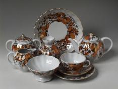 "Сервиз чайный, форма тюльпан, тв.ф., ""Мой сад""."