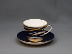 """Чашка с блюдцем чайная, тв.ф. весенняя """"Кокон""""."""