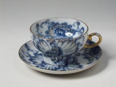 """Чашка с блюдцем, тв.ф. шатровая,  чай """"Поющий сад""""."""