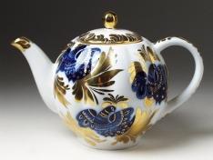 """Чайник заварной, форма тюльпан, 600 мл., """"Золотой сад""""."""