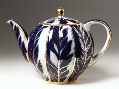 """Чайник заварной, форма тюльпан, """"Зимний вечер"""""""