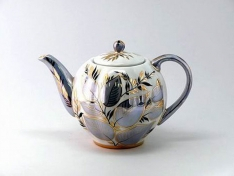 """Чайник заварной, форма тюльпан, 600 мл., """"Лунный""""."""