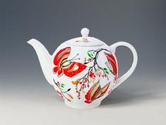 """Чайник заварной, форма тюльпан """"Бабочки""""."""