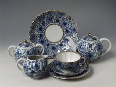 """Сервиз чайный, 6/20, форма тюльпан, тв.ф. """"Вьюнок""""."""