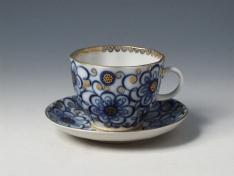 """Чашка с блюдцем кофейная, тв.ф. тюльпан """"Вьюнок""""."""