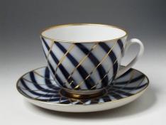 """Чашка с блюдцем чайная, тв.ф. весенняя """"Тодес""""."""