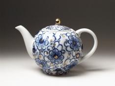 """Чайник заварной, форма тюльпан, тв.ф. """"Вьюнок""""."""