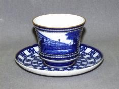 """Чашка с блюдцем чайная, тв.ф. банкетная """"Львиный мостик""""."""