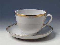 """Чашка с блюдцем чайная, тв.ф. весенняя """"Белоснежка""""."""