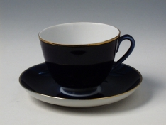 """Чашка с блюдцем чайная, тв.ф. весенняя """"Ночь""""."""