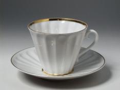 """Чашка с блюдцем чайная, тв.ф. лучистая, """"Белоснежка""""."""