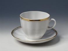 """Чашка с блюдцем кофейная, тв.ф., тюльпан """"Белоснежка""""."""